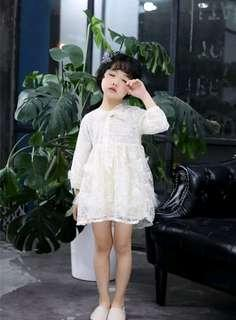 🚚 🌟PM for price🌟 🍀High Quality Girl Lace Long Sleeves Dress🍀