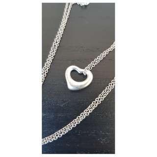 Tiffany & Co ELSA PERETTI Open Heart Pendant genuine item