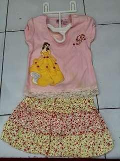 Baju Princess untuk anak 4-5 th