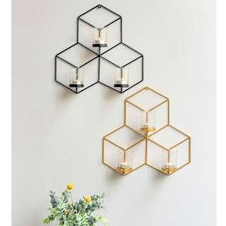 Geometrika Wall Candle Holder | Metal Wall Decor