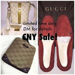 CNY Sale!! Branded bags and shoe. Coach/Balenciaga/Gucci Loafer