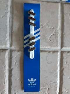 Vintage Authentic Adidas Originals 3 Stripes Silver Lace Jewellery for Stan Smith NMD EQT Sports Shoes Sneakers NOT Camou Camouflage