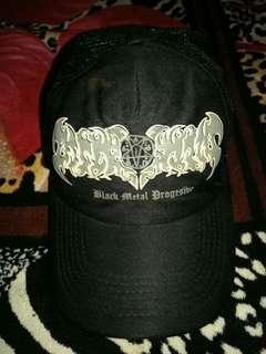 trucker cap  ( BLACK METAL PROGRESIVE ) band