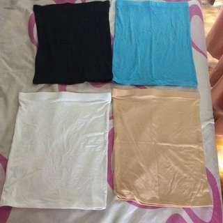 🚚 Brand New Free Size Tube Top - 4 Colours Beige White Black Blue