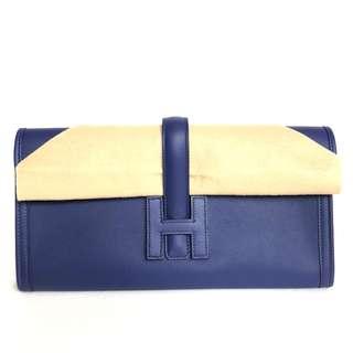 6f6605f86a5c Hermes - Blue Encre Pochette Jige Elan 29 in Veau Swift