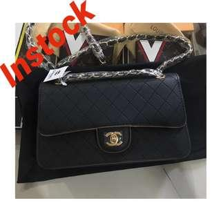 Instock Chanel flap bag with serial , Chanel box & paper bag
