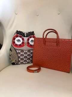 Giorgio Fedon women bag with strap (可手挽及上肩)