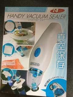 手提 電動 真空 吸引機 保存 食物 食品 保鮮 handy vacuum sealer 日本🇯🇵