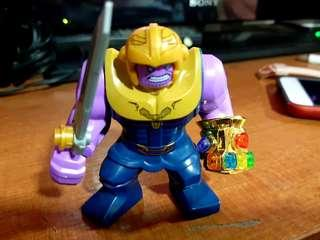 Thanos with sword and chrome gauntlet