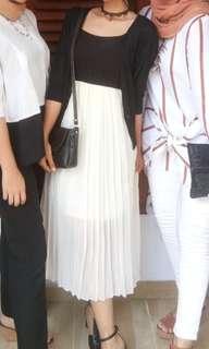 REPRICE Black & White Dress