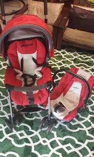Halford stroller and baby carrier