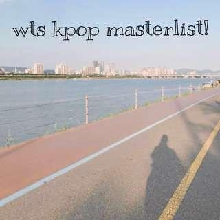 🚚 wts kpop masterlist 🌾