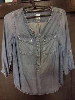 Promod Soft Denim Blouse