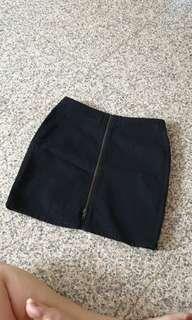 Zip bodycon denim skirt the goods dept