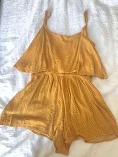 Glassons mustard Playsuit