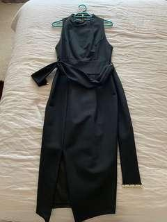 Sheike black dresss with belt - size 8