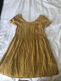 Cute mustard glassons dress