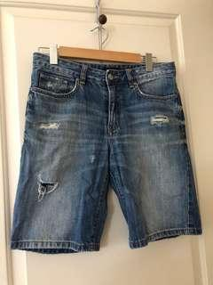 Sportsgirl above knee denim shorts size 8
