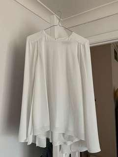 Cue cape blouse - cream, size 8