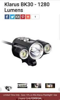 KLARUS BK30 EScooter Light