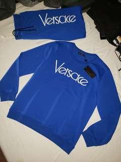 Versace Men's Logo Typographic Sweatshirt NEW! (Size Lg)