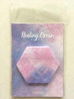 🚚 Hexagon watercolor post it notes