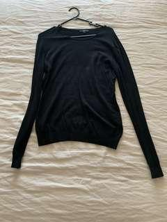 Cue black knit jumper - large