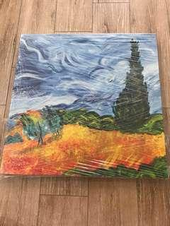 My Rendition of Wheat Field with Cypresses Painting by Vincent Van Gogh