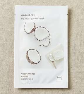[5pcs coconut] Innisfree My Real Squeeze Masks