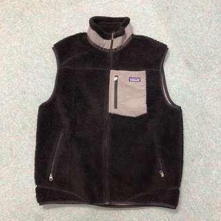 🚚 Vintage Patagonia fleece 黑色背心 美製