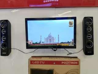 TV LED Polytron 24 Inch Digital TV Dual Speaker Tower Garansi 5 Tahun