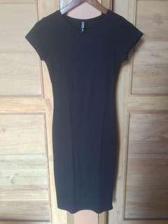 Cotton On Black Midi Dress