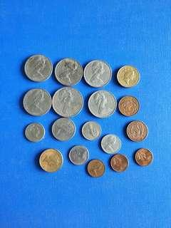🚚 New Zealand coin lot of 18 coins