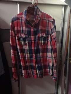 Checkered Shirt / Women Tops / Kemeja
