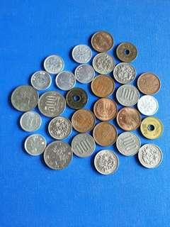 🚚 Japan coin lot of 29 coins