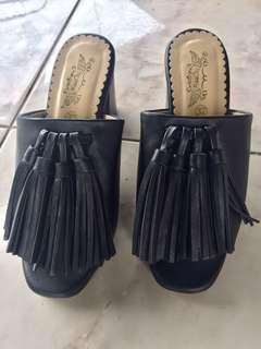 Heels kotak 7cm black #onlinesale