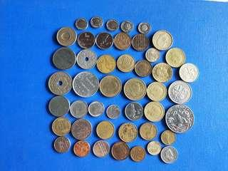 🚚 Mix country coin lot of 46 coins