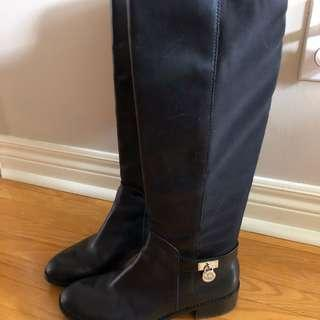 Michael Kors Leather Boots Size 8.5
