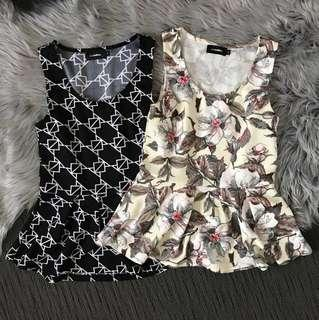 2x Valley Girl Work Tops size S