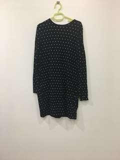 🚚 Mango polka dot knit dress