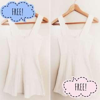 FREE dress‼️ White Flare Cut Out Dress #RHD80 #MFEB20