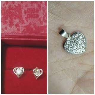 Pendant and earrings S925 Combo