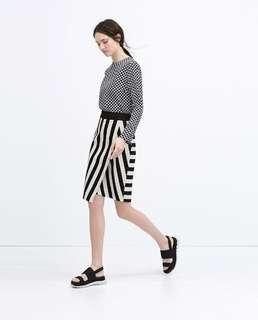 ZARA striped sarong skirt UK8