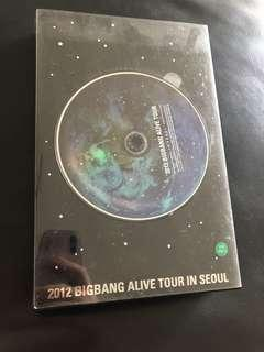 Bigbang 2012 alive tour in Seoul dvd
