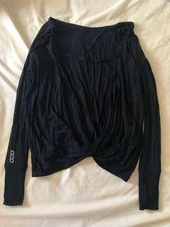 Lorna Jane open back black long sleeve top xs as new worn once