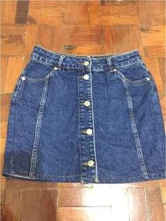 Topshop denim skirt button down - free shipping