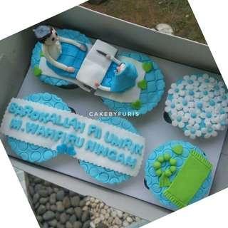 Cupcakes Custom isi 6cup - Cupcakes 2d/3D TANGERANG
