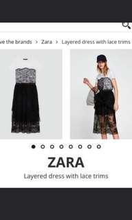 Zara lace layered trim dress