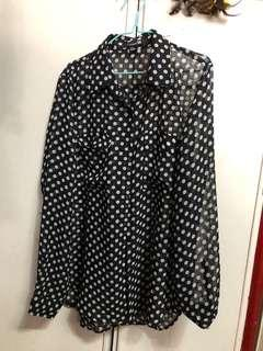 Forever 21 Polka Dots Top
