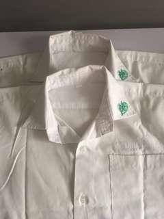 Maha Bodhi white school shirt